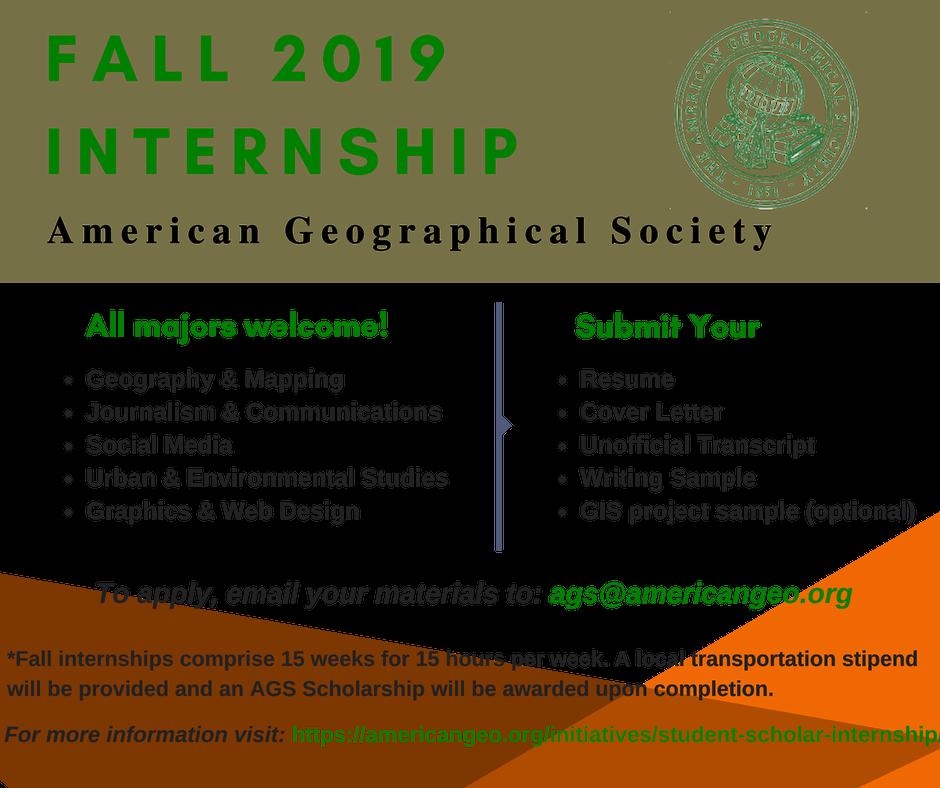 Student Scholar Internship   American Geographical Society